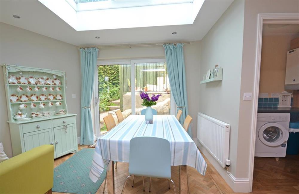 Another view of the dining area with the utility and cloakroom alongside at Ferndale, Dartmouth