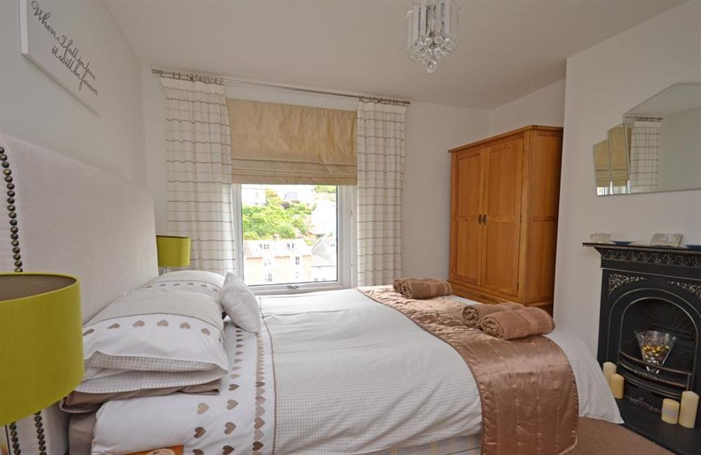 The luxurious double bedroom at Ferndale, Dartmouth