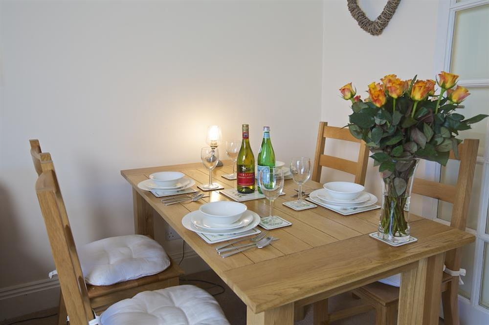 Dining table with seating for four at Ferry View (Dartmouth) in South Town, Dartmouth