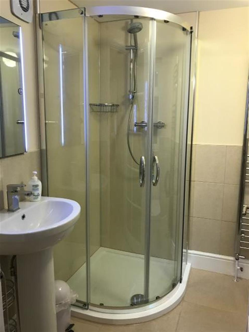 En suite shower room at Ferry View (Dartmouth) in South Town, Dartmouth