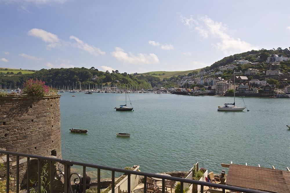 Views from the balcony over the River Dart at Ferry View (Dartmouth) in South Town, Dartmouth