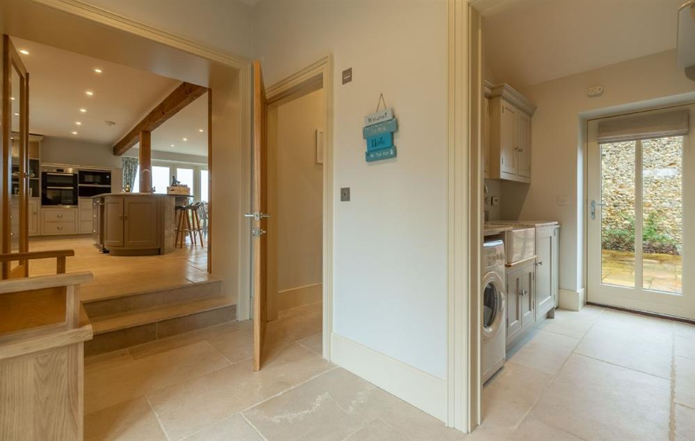 Ground floor: The entrance hall leads into the utility room