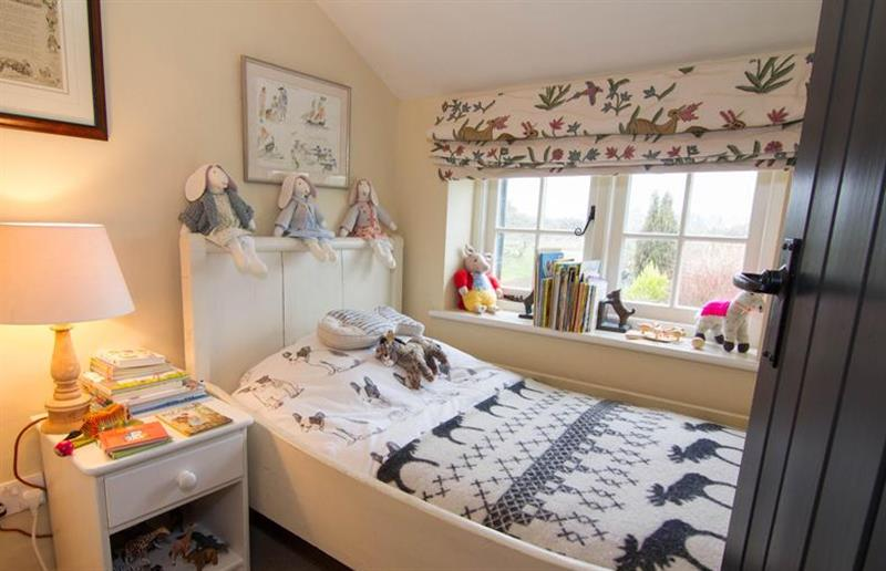 One of the bedrooms at Field House Cottage, Hindringham near Great Yarmouth, Norfolk