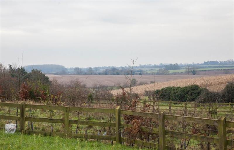 Views over the fields at Field House Cottage, Hindringham near Great Yarmouth, Norfolk