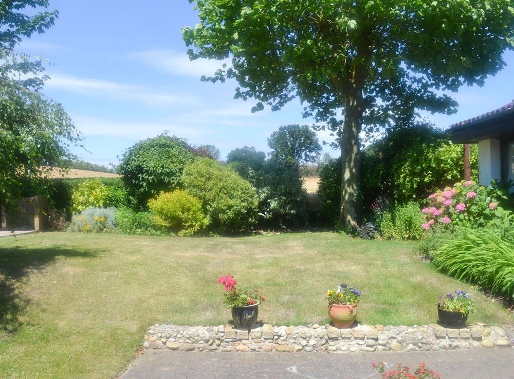 Garden at Field View in Nettlestead, near Ipswich, Suffolk