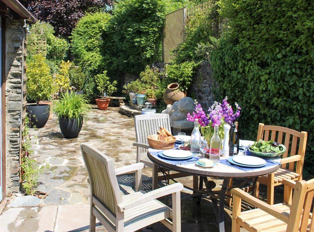 Lovely enclosed garden area at Upper Mill,