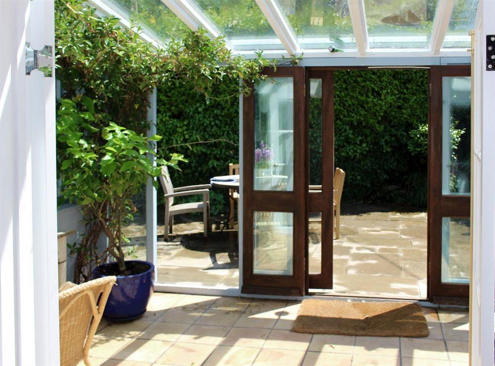 Lovely sunroom/conservatory at Upper Mill,