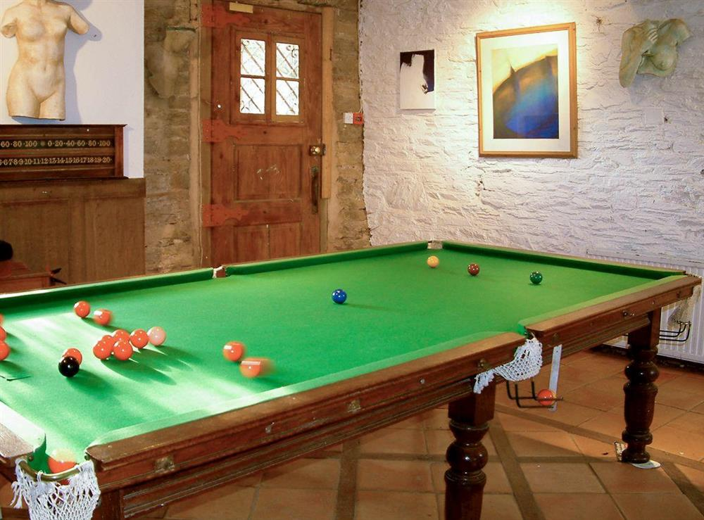 Shared on-site facilities – games room at Upper Mill,