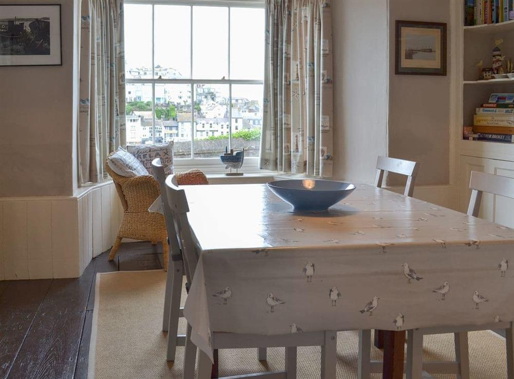 Dining Area at Fishermans Cottage in Brixham, South Devon., Great Britain