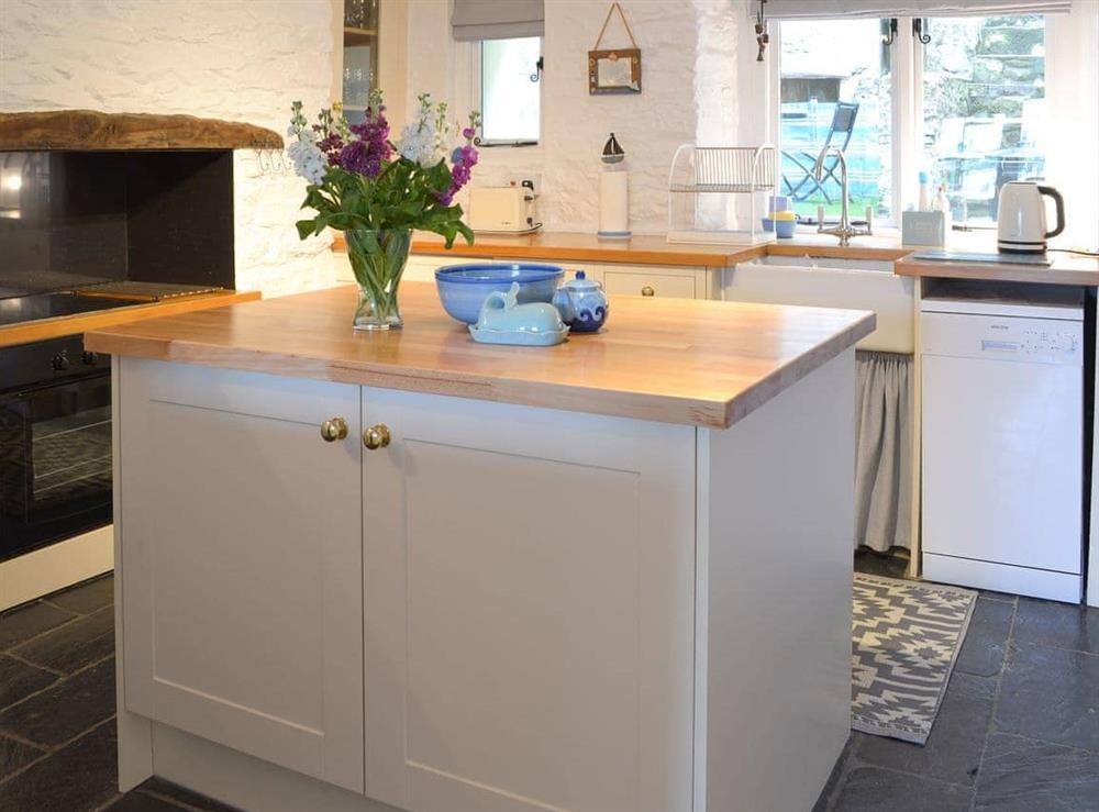 Kitchen/diner at Fishermans Cottage in Brixham, South Devon., Great Britain