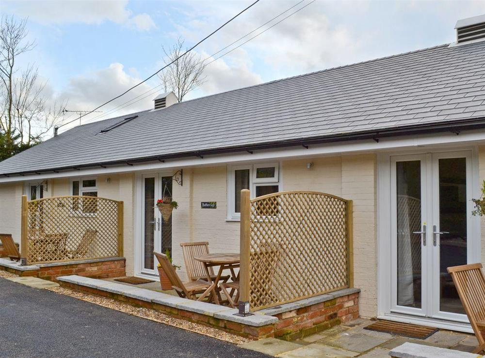 Holiday cottage exteriors at Buttercup,