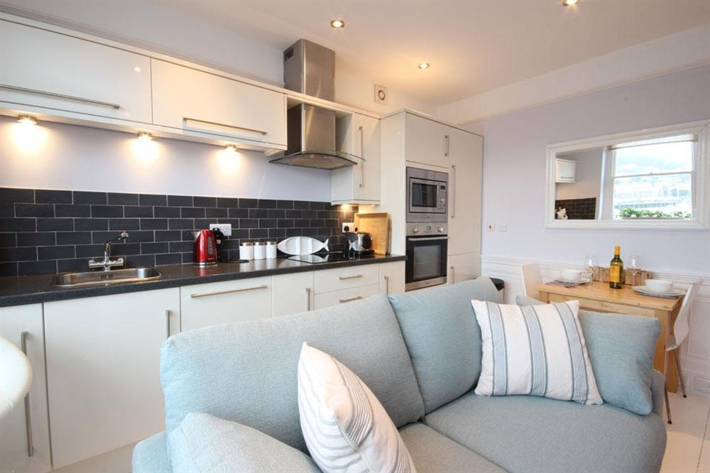 Light and sunny open plan room at Flat 1, 32 Newcomen Road in The Plaice, Dartmouth
