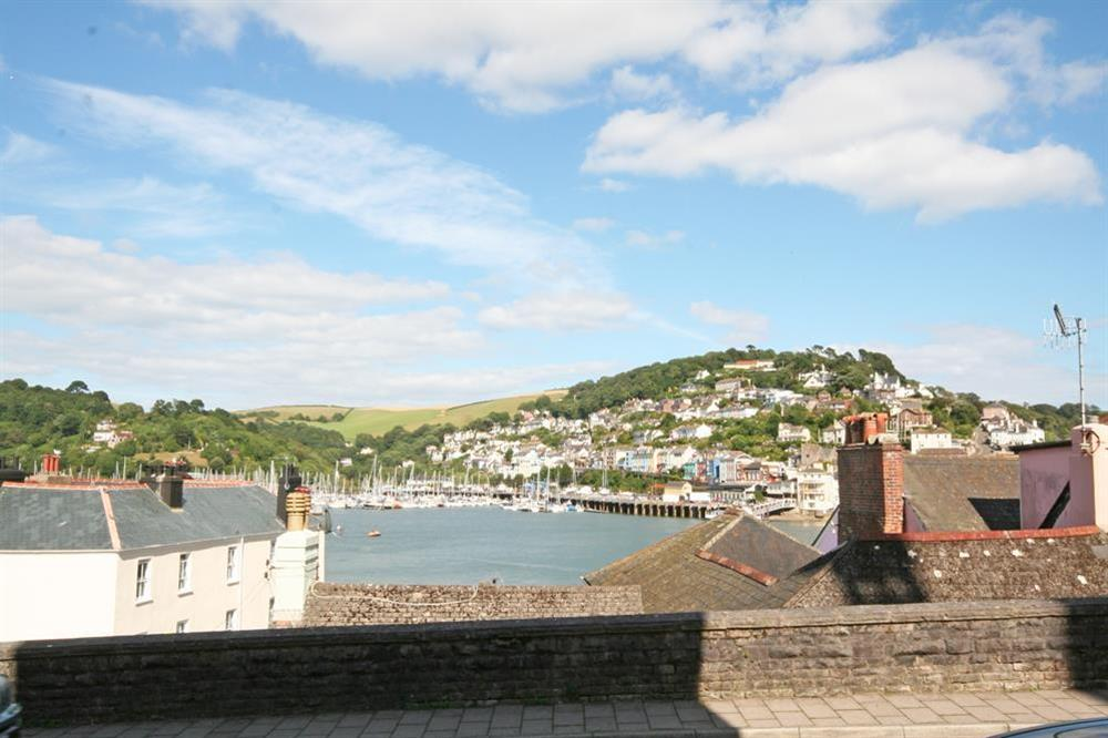 Views over the River Dart from the property at Flat 1, 32 Newcomen Road in The Plaice, Dartmouth
