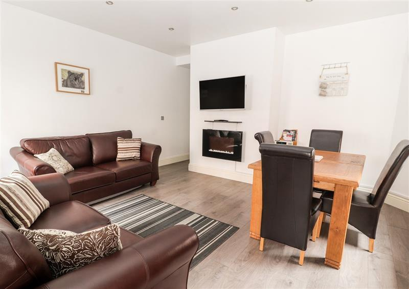 The living room at Flat 4B, Chester