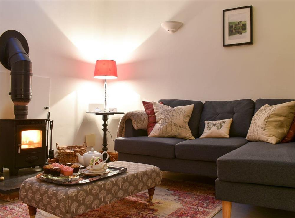 Living room at Folly Cottage in Garton on the Wolds, near Driffield, North Humberside