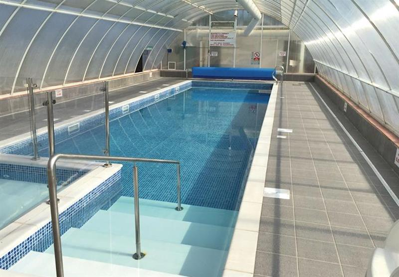 Indoor heated pool at Forest Glade Holiday Park in Kentisbeare, Nr Exeter, Devon