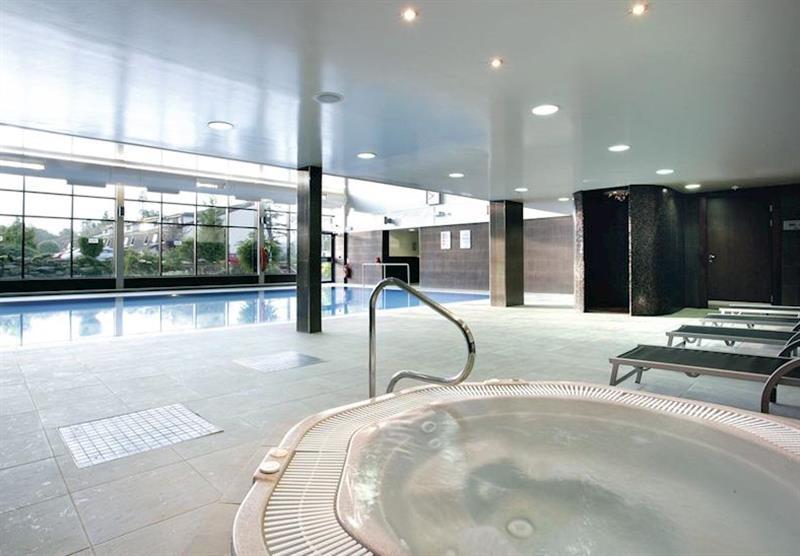Indoor pool at Forest Hills Lochside Resort in Stirling, Scotland