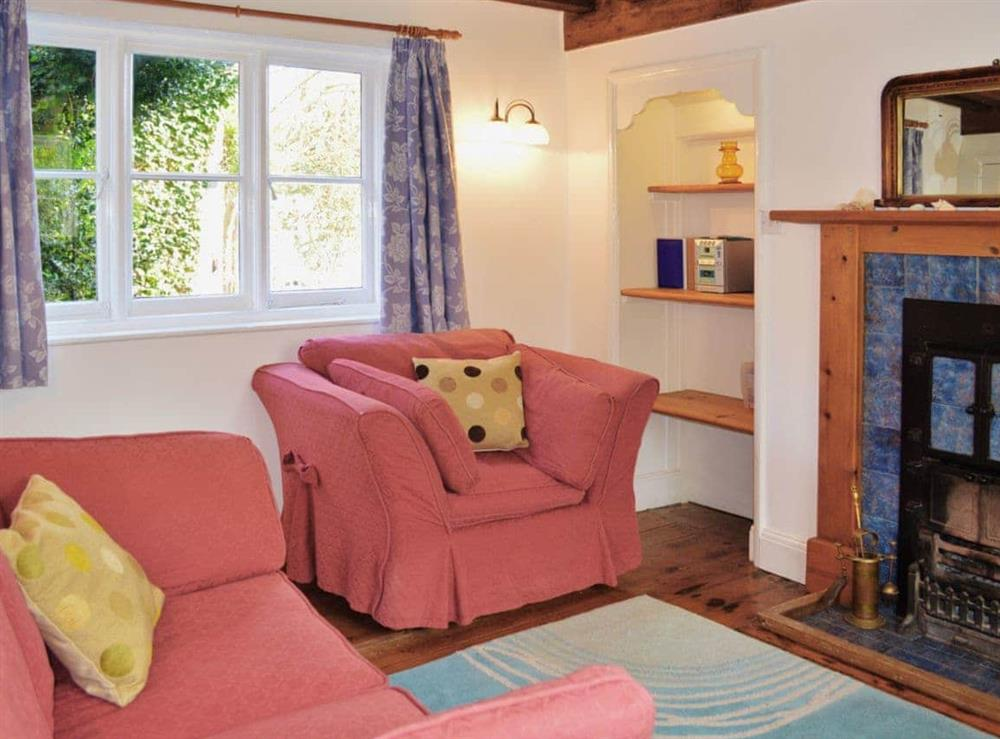 Living room at Forge Cottage in Stiffkey, Norfolk., Great Britain