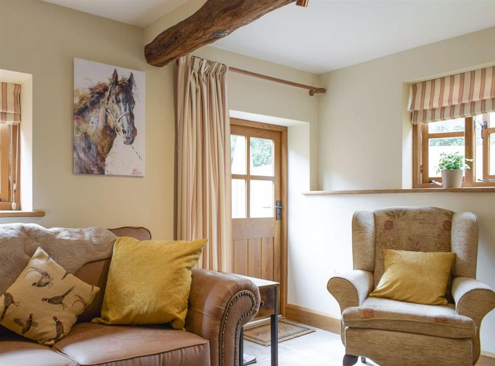 Living area at Forge Cottage in Tarrington, near Hereford, Herefordshire
