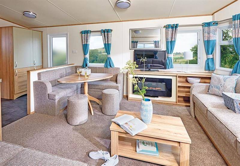 Inside a Cheviot Deluxe Caravan at Forget Me Not Country Park in Long Horsley, Northumberland