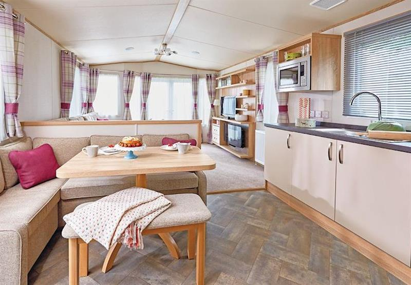 Inside a Cheviot Prestige Caravan at Forget Me Not Country Park in Long Horsley, Northumberland
