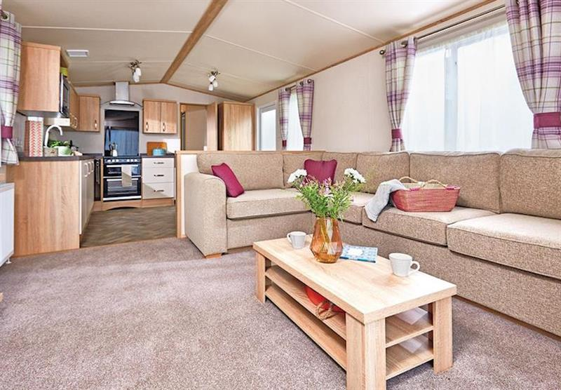 Living room in a Cheviot Prestige Caravan at Forget Me Not Country Park in Long Horsley, Northumberland
