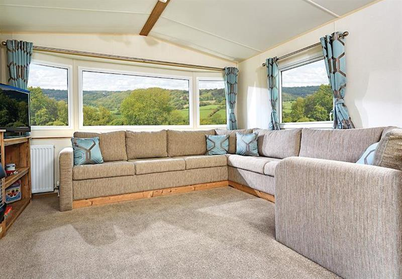 Living room in a Cheviot Standard Caravan at Forget Me Not Country Park in Long Horsley, Northumberland