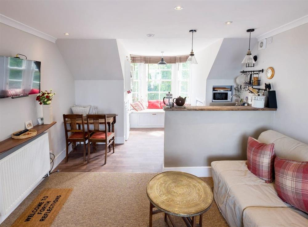 Open plan living space at Forth Reflections in South Queensferry, West Lothian
