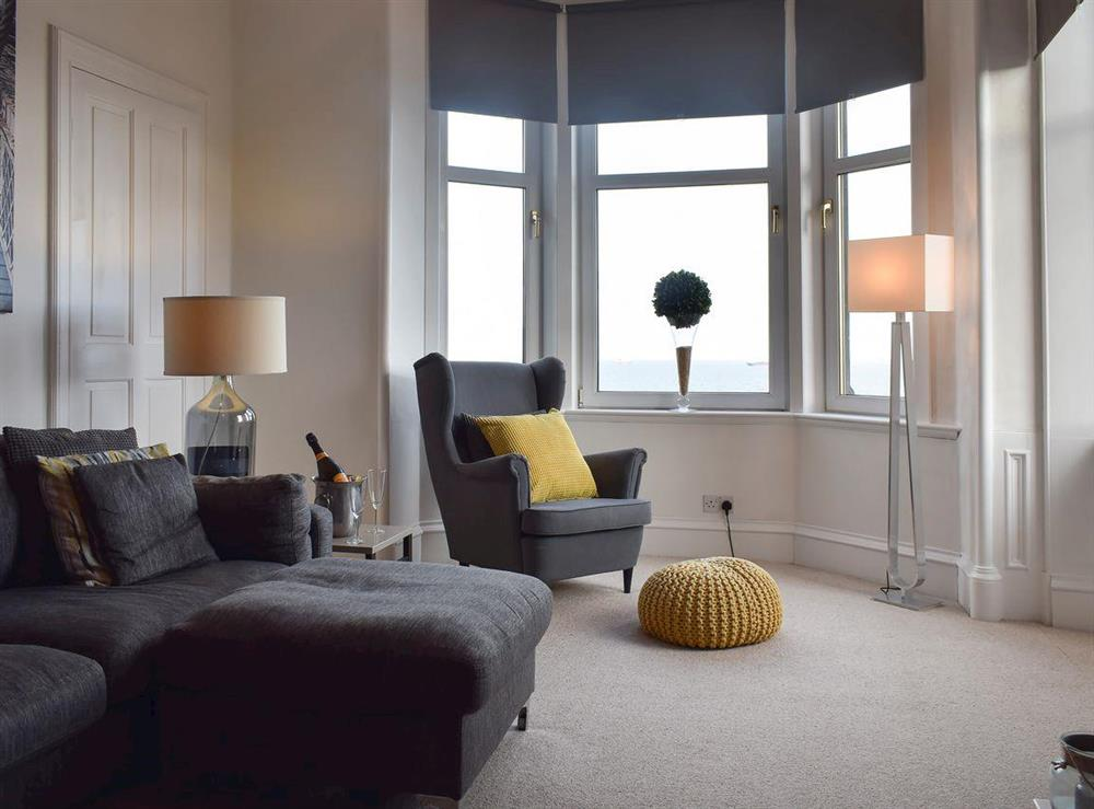 Spacious and cosy living room at Forth View in Kinghorn, near Kirkcaldy, Fife
