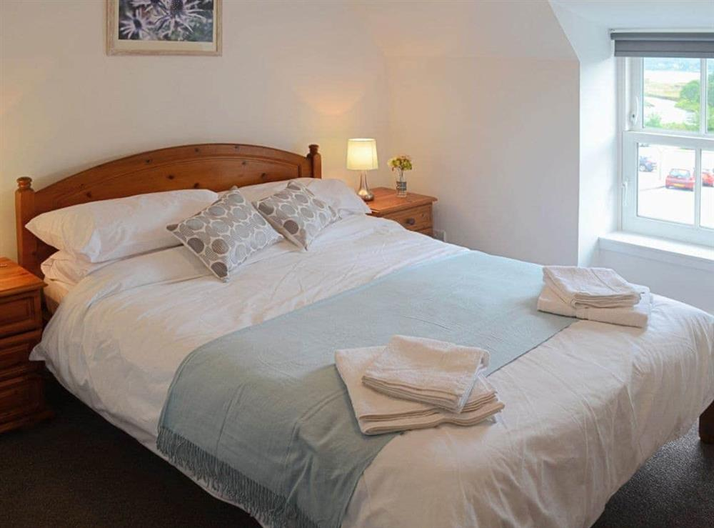 Bedroom with cosy and romantic double bed at Foundry Bank in Bonar Bridge, Ross-Shire