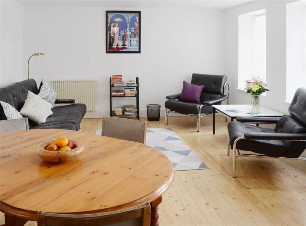 Bright and airy living area at Foundry Bank in Bonar Bridge, Ross-Shire