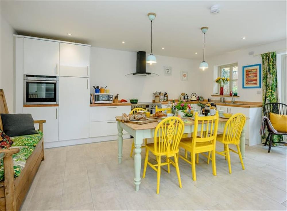 Bright and spacious kitchen/dining room at Fox Cottage in Wortham, near Diss, Suffolk