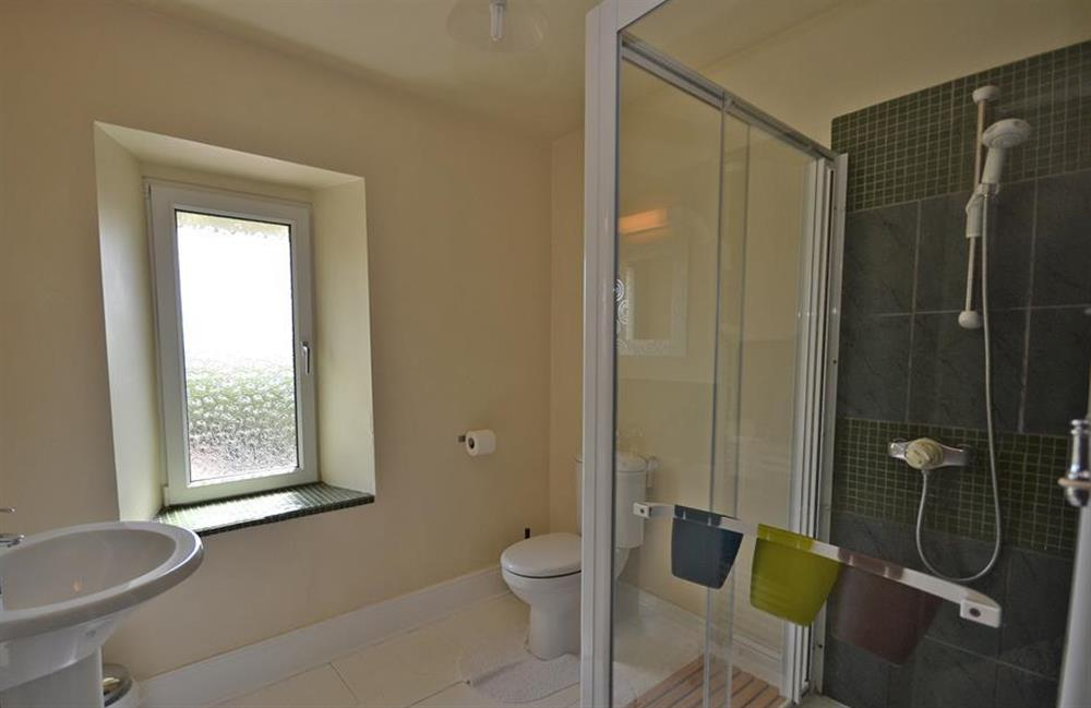 Another angle of the family shower room at Foxenhole Farmhouse, Dittisham