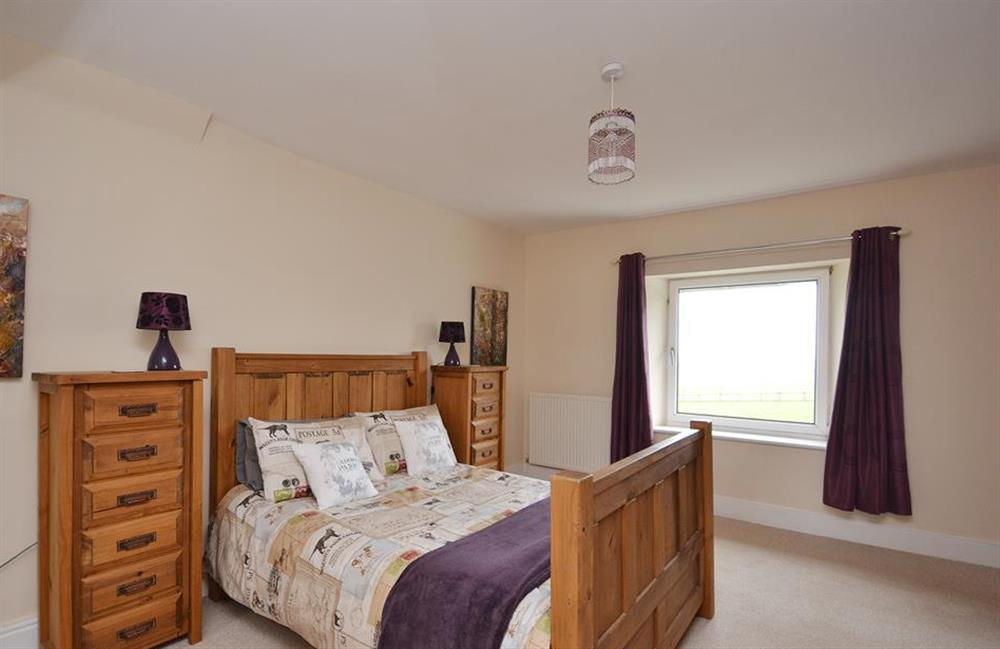 Another view of the master bedroom at Foxenhole Farmhouse, Dittisham