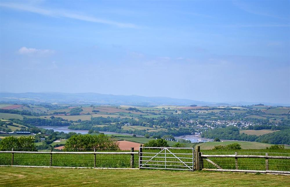Enjoy the stunning long distance views at Foxenhole Farmhouse, Dittisham