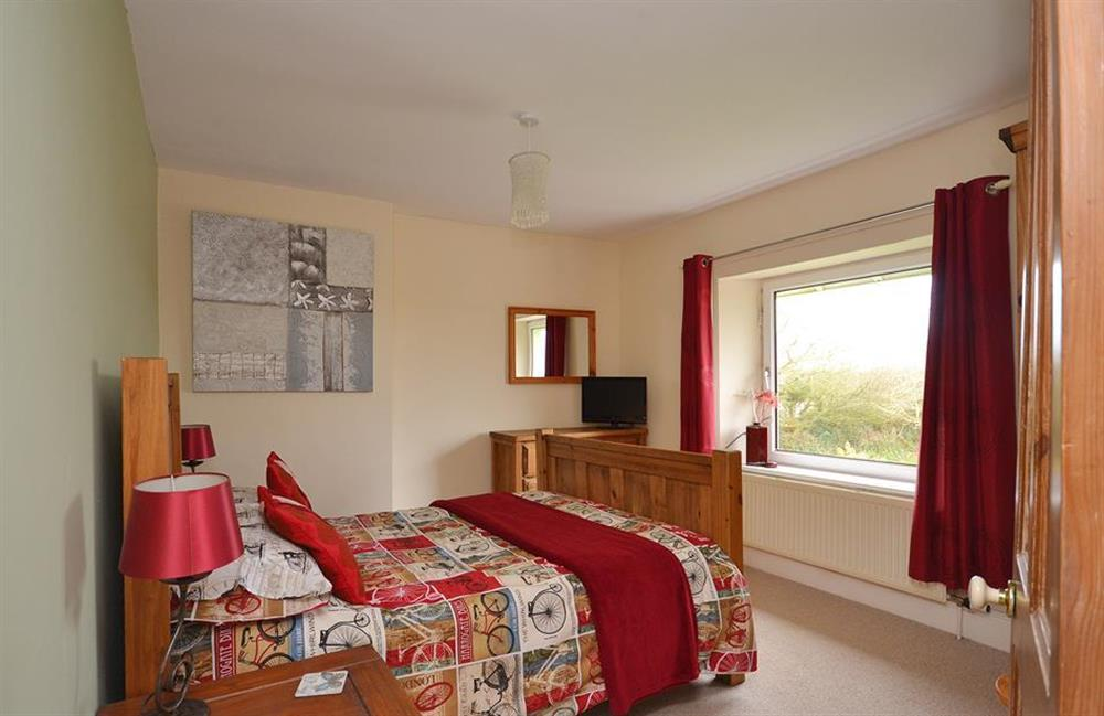 The second double bedroom at Foxenhole Farmhouse, Dittisham