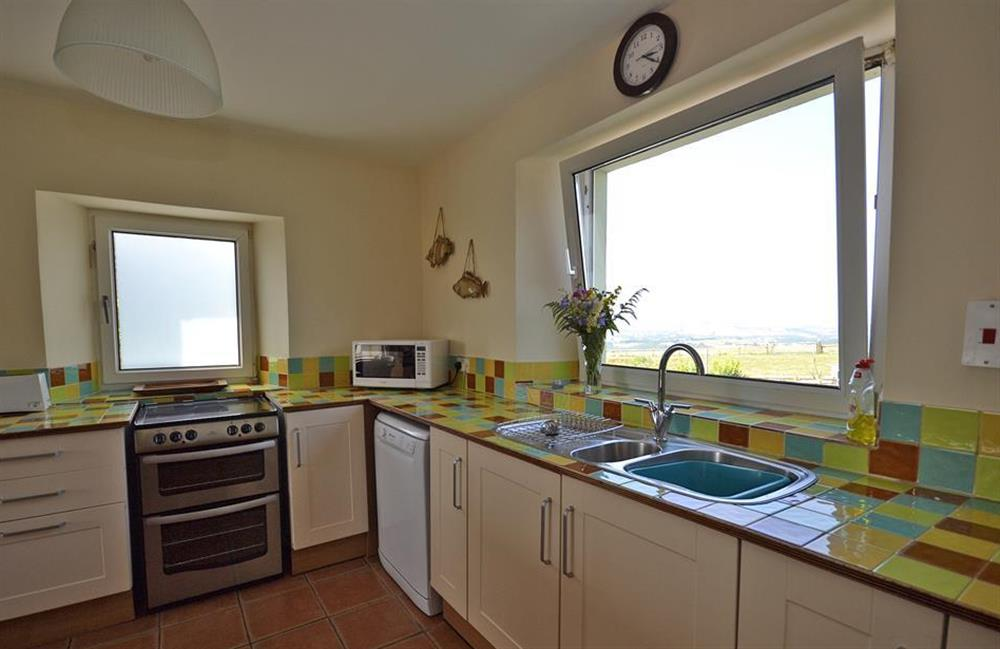 The well equipped kitchen at Foxenhole Farmhouse, Dittisham