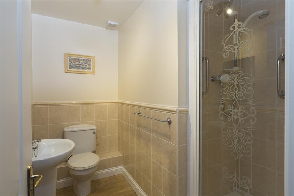 En suite shower room at Freshford in Mayors Avenue, Dartmouth