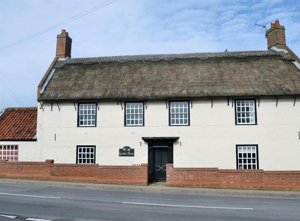 Wonderful, period detached farmhouse at Gables Farm in Martham, near Great Yarmouth, Norfolk