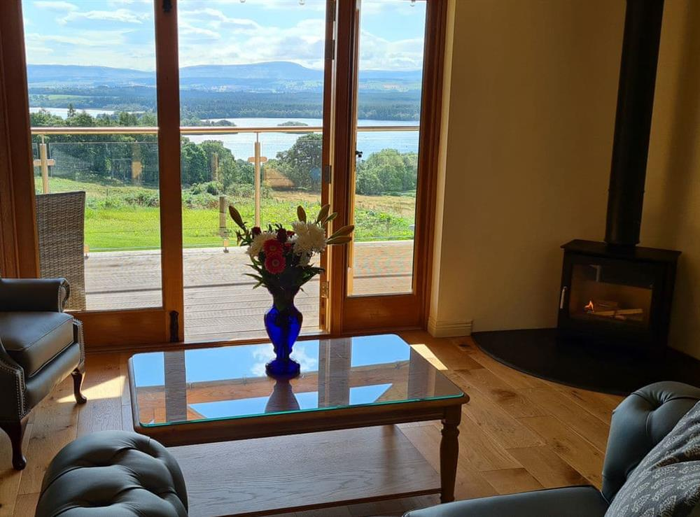 Living area at Gamekeepers Lodge in Port of Menteith, Stirlingshire