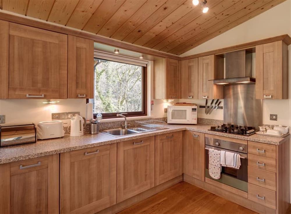 Kitchen at Garden at Gara Mill in , Slapton