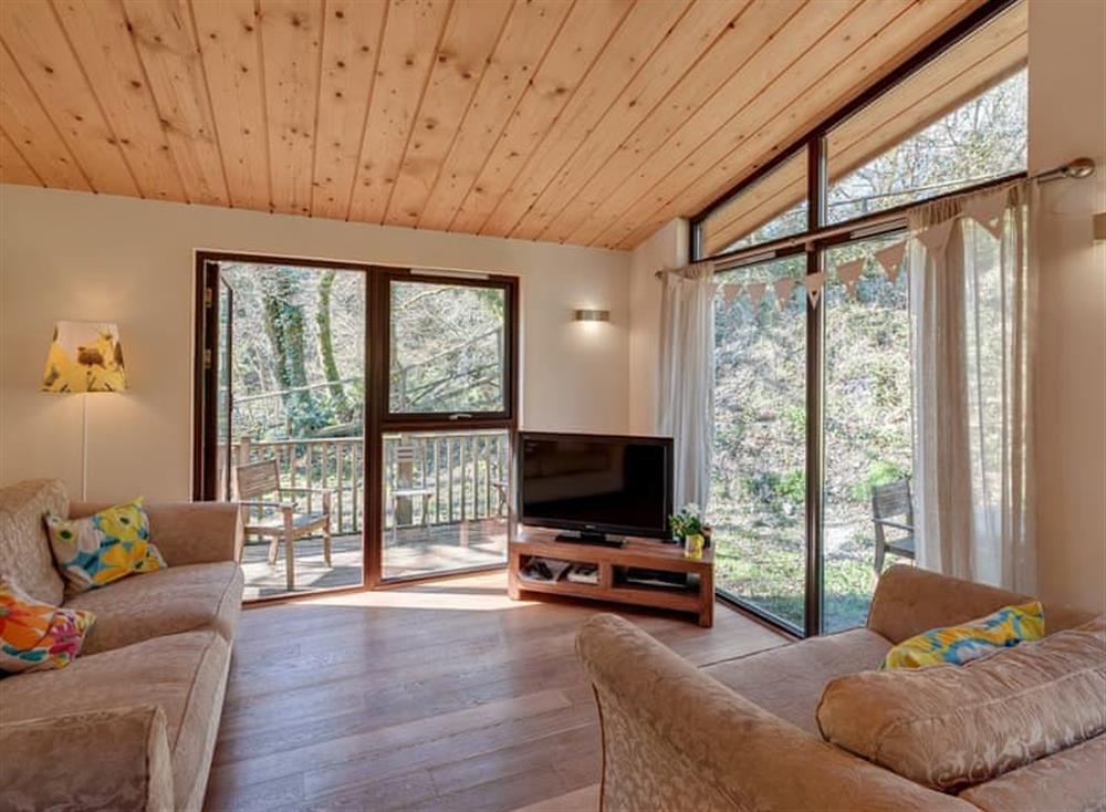 Living area at Garden at Gara Mill in , Slapton