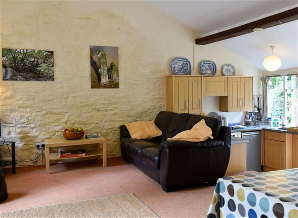 Comfortable living area at Garden Cottage in Hendham, near Kingsbridge, Devon