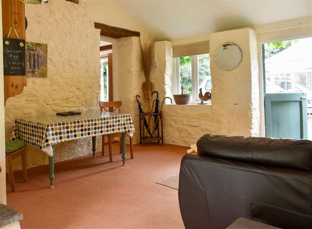 Dining area at Garden Cottage in Hendham, near Kingsbridge, Devon