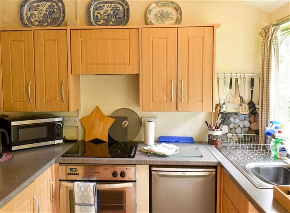 Kitchen area at Garden Cottage in Hendham, near Kingsbridge, Devon