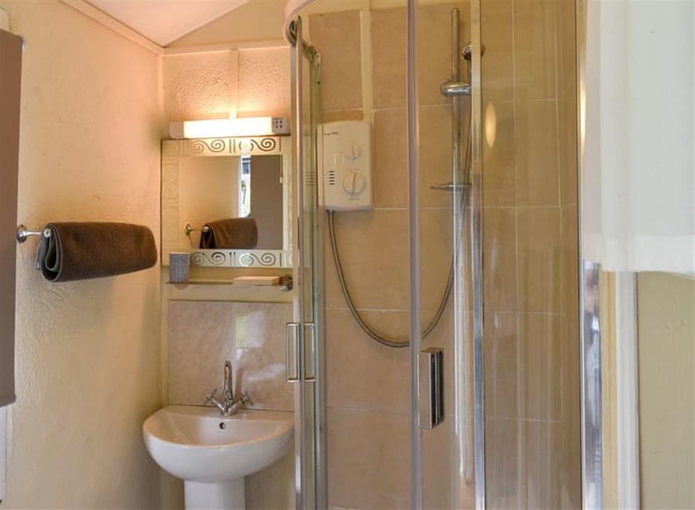 Shower room at Garden Cottage in Hendham, near Kingsbridge, Devon