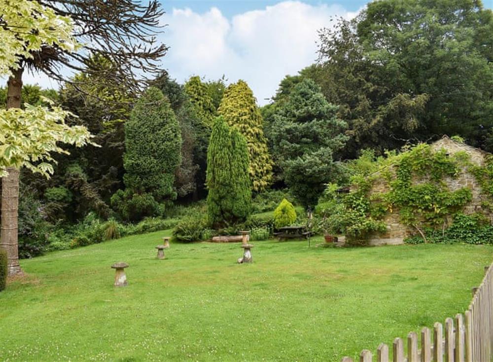 Stunning garden views at Garden Cottage in Hendham, near Kingsbridge, Devon