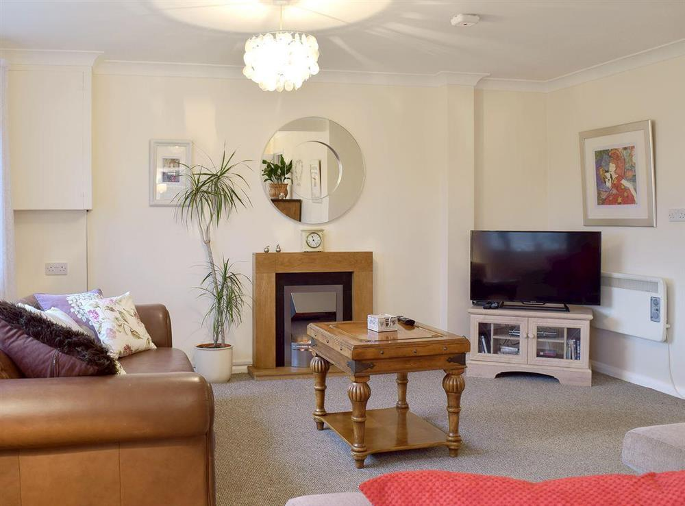Comfortable living room at Garden Cottage in Wangford, near Southwold, Suffolk, England