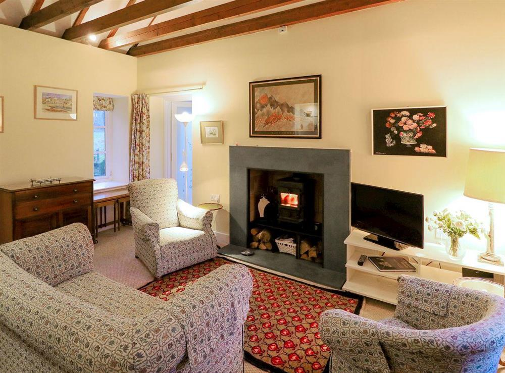 Charming and cosy living room at Gardeners Cottage in Skirling, near Biggar, The Scottish Borders, Lanarkshire
