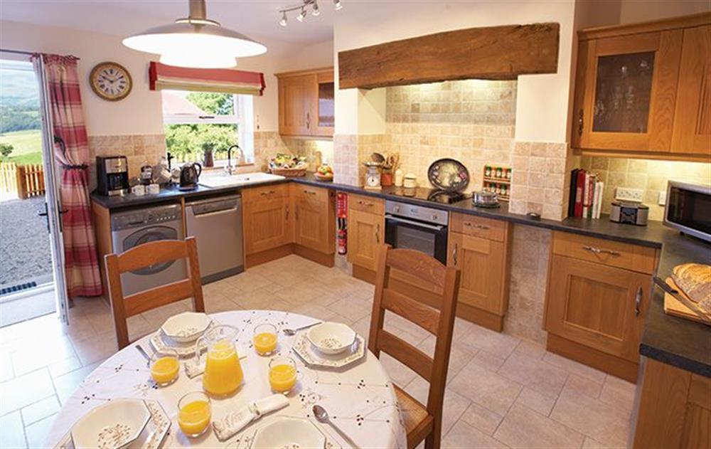 Ground floor: Large kitchen/dining room at Garreg Wen, Eglwys Bach